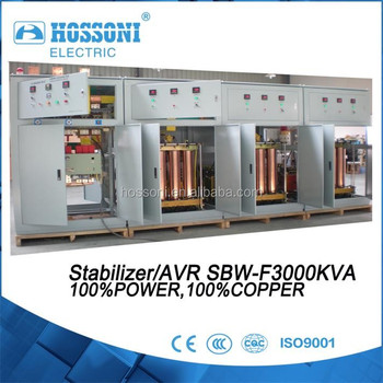 stabilizer 2200kva,SBW-F, 3Phase,HOSSONI brand,AVR,strong quality,pure copper