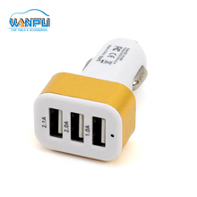 2.1A Mini promotional design Multi universal 3 port Portable car USB phone charger