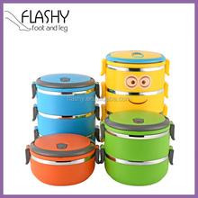 Round Shape Multi-layer Lunch Box Multi-layer Stainless Steel Lunch Box