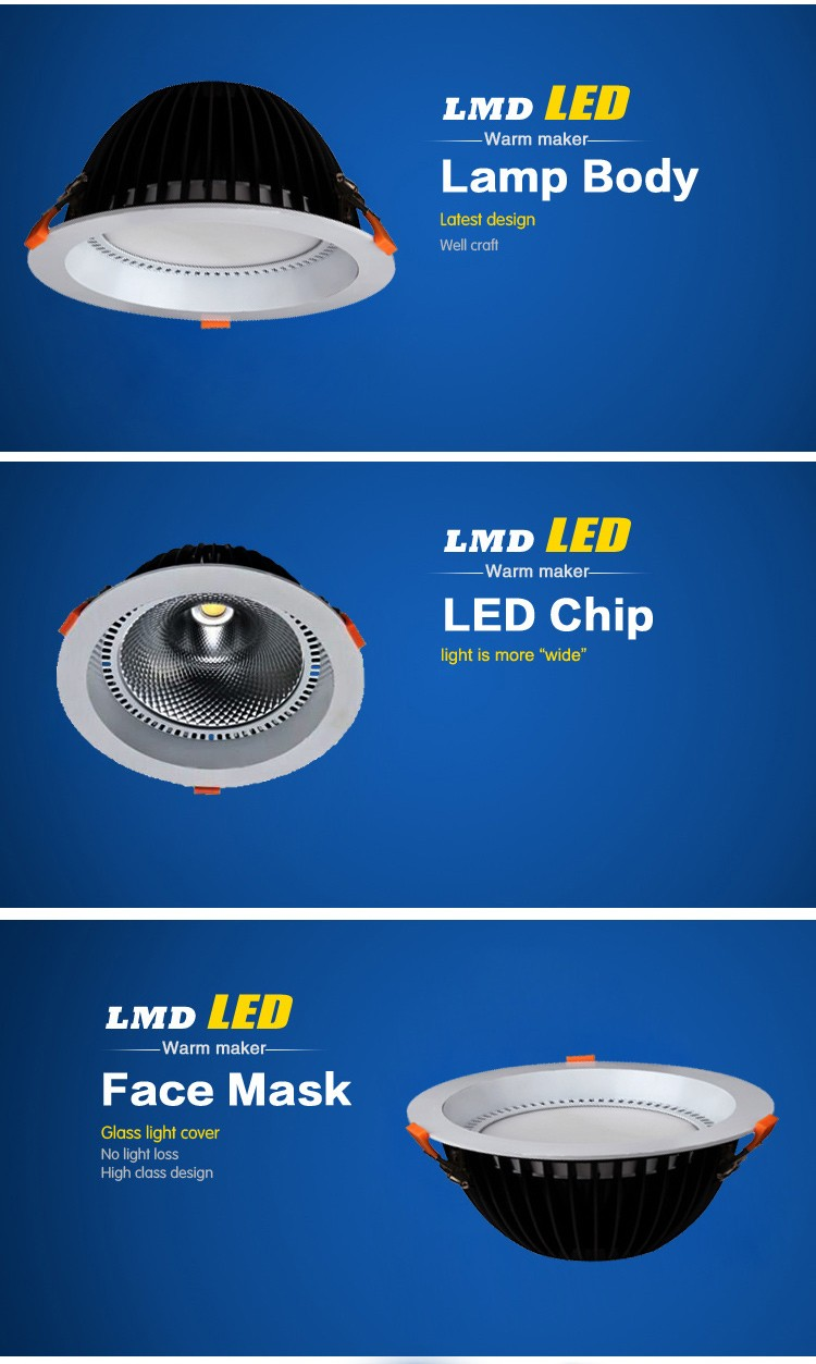 2016 new design 60w SMD LED Downlights