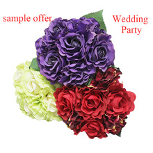 Dry silk wedding decorations forever eternal rose artificial flower bouquet