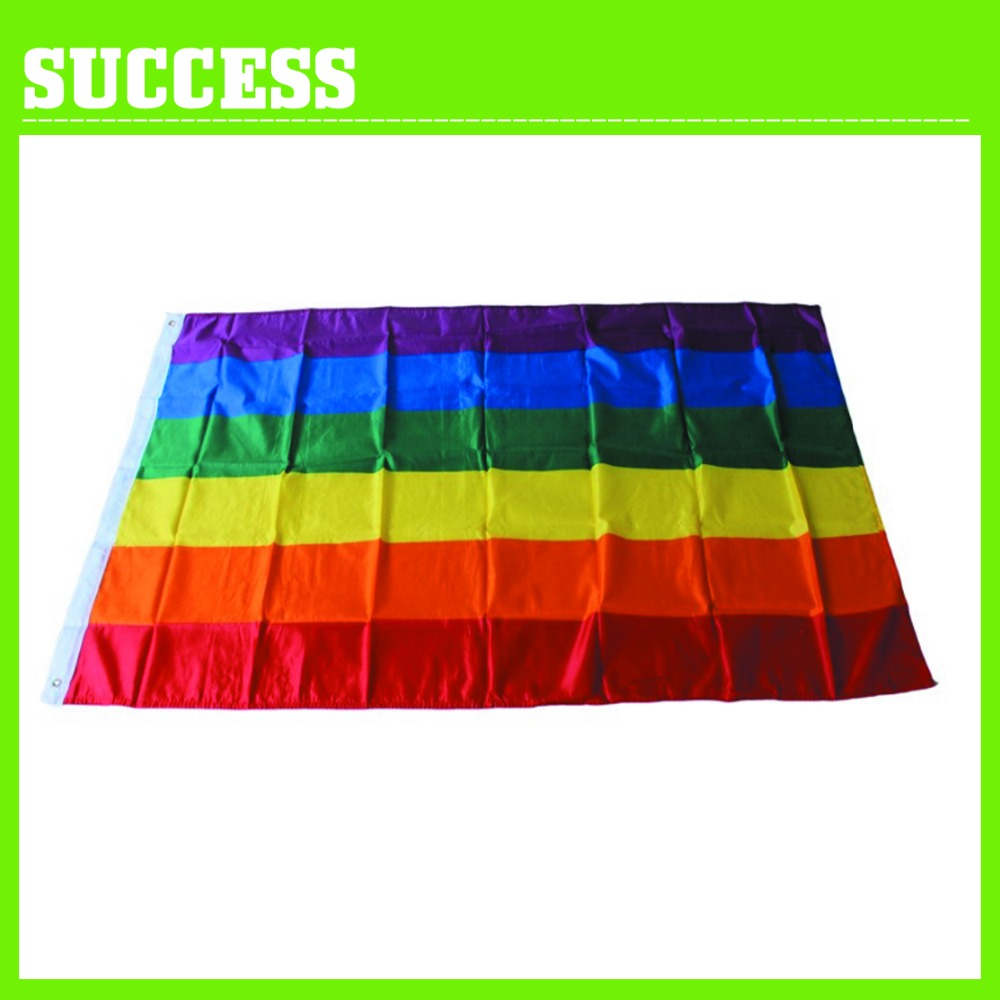 China wholesale polyester 3ft x 5ft rainbow flags