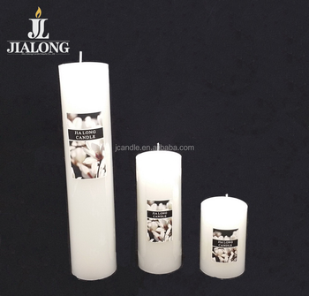 white pillar candle 5cm dia classic dinner candles pillar shape