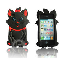 3d silicon animal case for iphone 4,cute animal silicone cell phone case for iphone 5