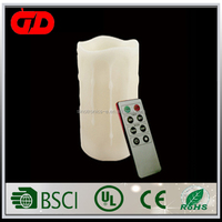Remote Controlled Yellow Color Paraffin Wax For Candles