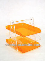 (S-AD-016) acrylic counter food service display tray
