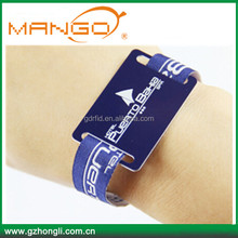 RFID One Time Disposable ID wristband/ Identification Bracelet Nfc fabric wristband
