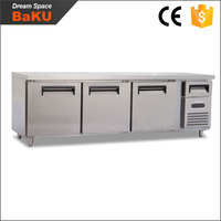 Stainless steel under counter refrigerator / industrial refrigeration equipment / bar style refrigerator