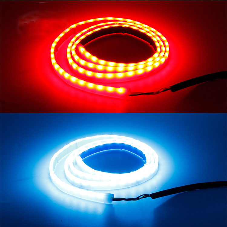 DRL colorful LED trunk tailgate strip light with Side Turn Signals