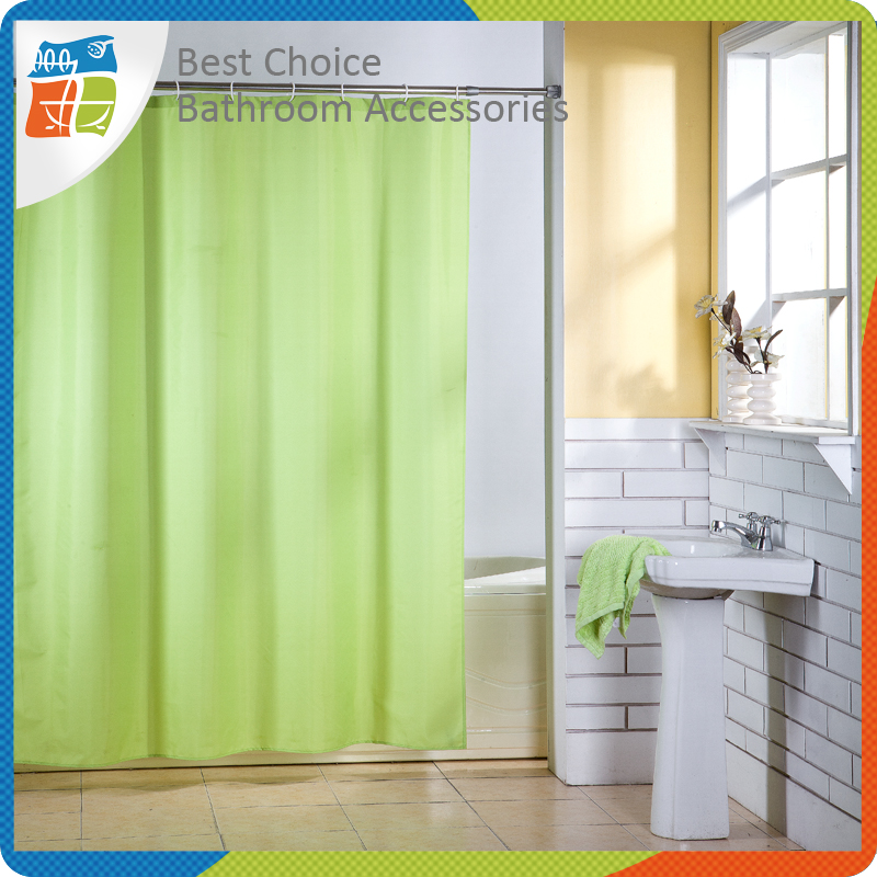 Solid Water Color Changing Shower Curtain
