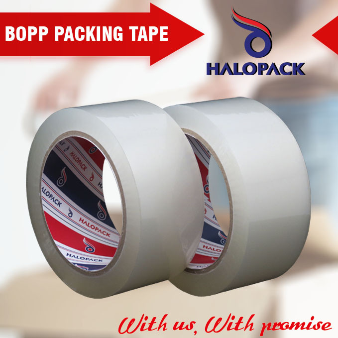 Acrylic Adhesive Clear Packing Tape / BOPP Tape Inspection
