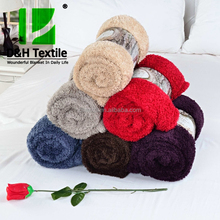 Factory Customized Plush Sherpa Throw Blanket