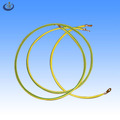 AWM ul1015 18awg multi stranded copper conductor pvc insulation electronic wire with gold loop terminal in both ends