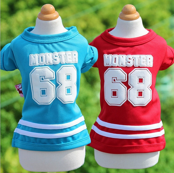 new model in stock sport style XXS dog clothes cotton pet dog and cat t-shirt