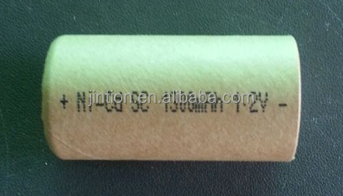 Ni-Cd SC 1300mAh 1.2v Rechargeable battery cell with paper cover