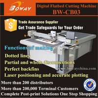 CB03 Digital cutting laser position CNC sample gift box making machine