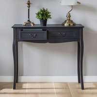 Wood bedroom furniture french style black color dressing table