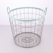 New fashion country style rustic rock basket wire iron mesh