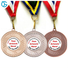 Cheap gold silver bronze zinc alloy custom finisher medals hanger