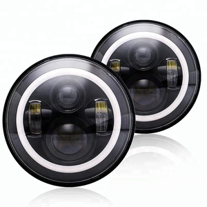 7'' motorcycle Black Projector Daymaker 7inch led headlight for Harleys