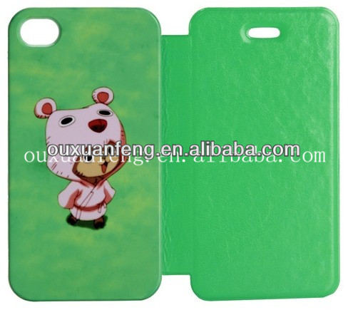 DIY Printed 3D Sublimation Mobile Phone Flip Case for Samsung S3,S4