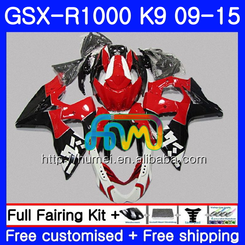 Fairing For SUZUKI K9 red black GSX-<strong>R1000</strong> 2009 2010 2011 2012 2014 2015 74HM33 GSX <strong>R1000</strong> GSXR 1000 GSXR1000 09 10 11 12 13 15