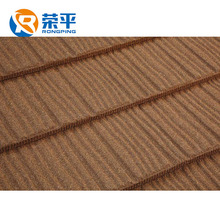 Color beautiful stone coated roofing sheet shingles or metal roof tiles for nigeria and building materials list for Philippines