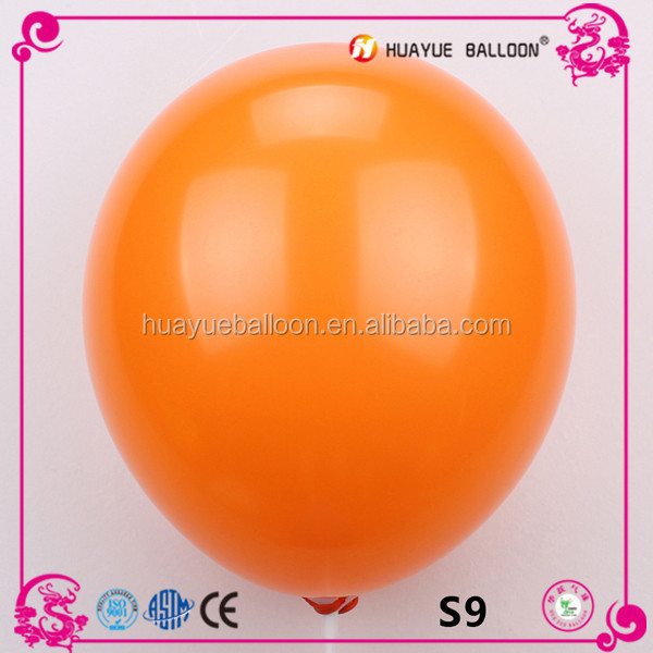 Inflated diameter 25cm 100% nature latex balloons, party helium balloons