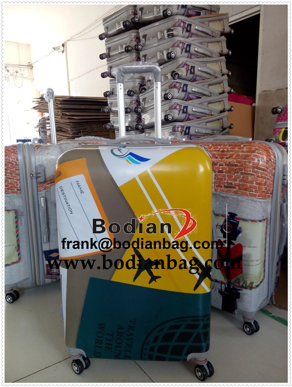 professional abs hard shell luggage trolley case factory