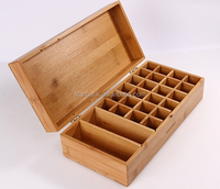 Custom Compartment Gift Packaging Essential Oil Wooden Storage Box W1456