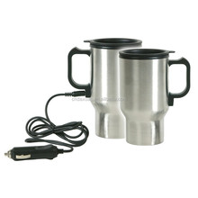 450m 12v Stainless Steel Electric Travel Mug,Heated Travel Mug
