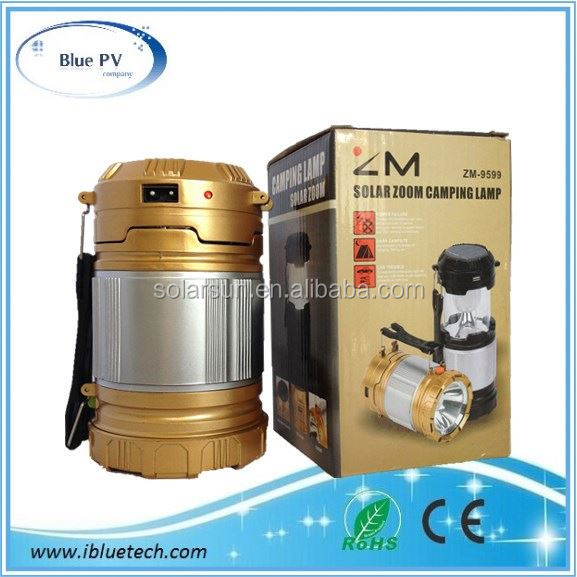 China factory of solar lantern ligh and outdoor supplies Solar Camping Lantern Rechargeable Lamp with USB