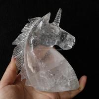 Wholesale Engraved Custom Carvings Natural Tibetan Clear Quartz Crystal Unicorn