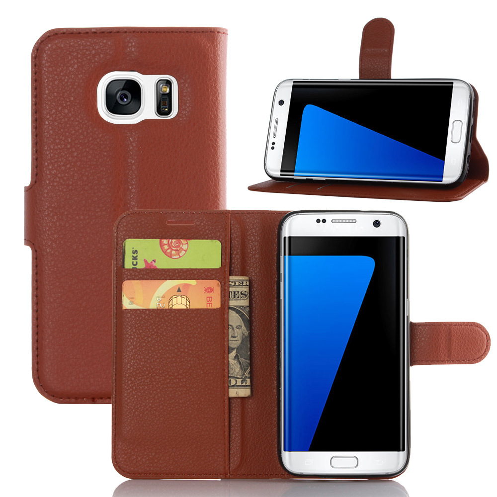 universal flip leather case for Samsung Galaxy S7 edge Case
