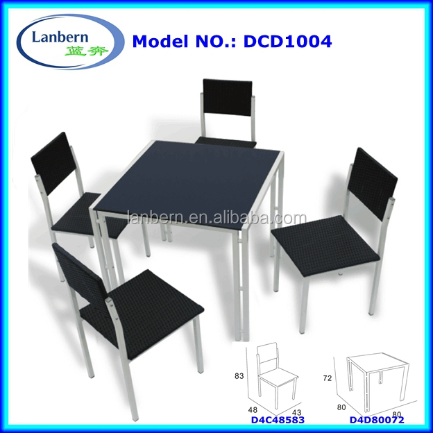 Rust Proof Outdoor Dinning Table andChairs Garden General Use Rattan/Wick Patio Furniture DCD1004