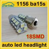 5050 18smd 1156 ba15s P21W led lamp for car brake light, turn light, tail light
