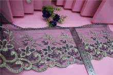 Mesh fabric embroidery