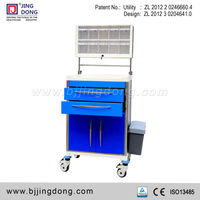 Alluminium alloy hospital medical Anesthesia drug /medicine Trolley /cart