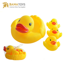 Yellow vinyl toy bath duck for kids