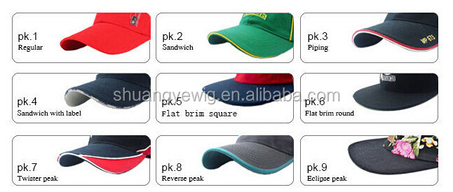 front embroidery 6 panel golf hat cotton sports hat woven label inside baseball cap
