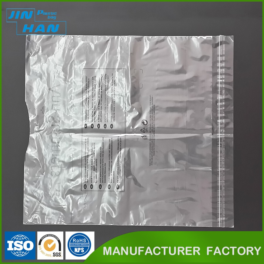 Custom Making Transparent PE Packing Plastic Bags for Clothes
