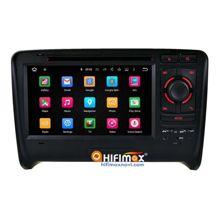 HIFIMAX Android 5.1 car dvd gps navigation system for AUDI TT 2006-2013 OBD DAB Quad Cord 16G HD 1080P