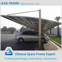 Steel frame structure car parking canopy