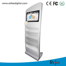 15 to 26 inch magazine brochure leaflet newspaper holder advertising display stand lcd display lcd display module touch screen