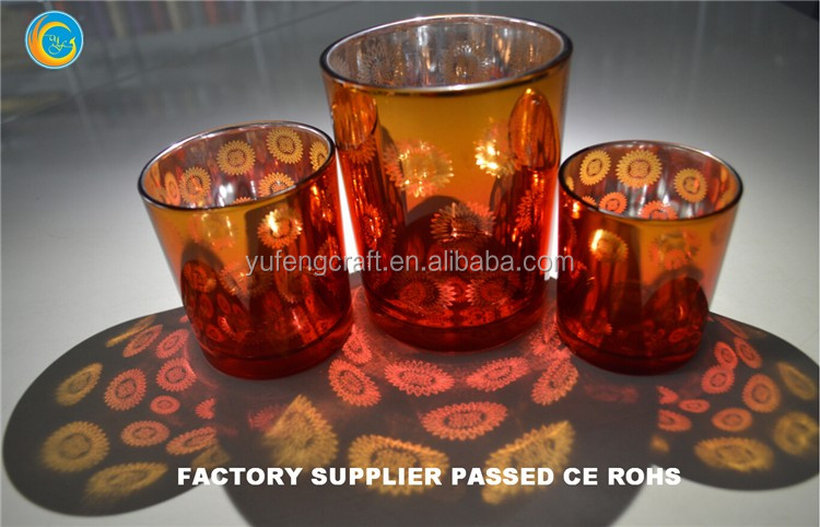Trade Assurance Best Glass candle holder factory supplier yufengcraft Quality Assured