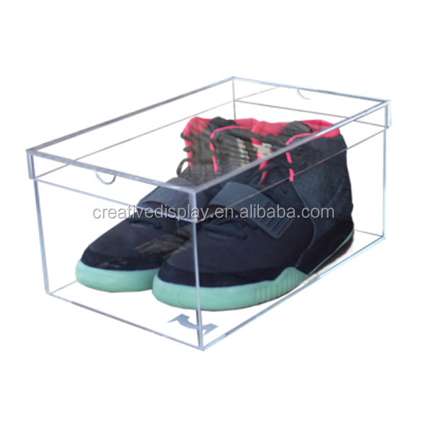 Custom high quality transparent acrylic nike shoe box