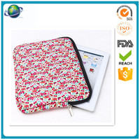 custom printed zipper Neoprene laptop sleeve bag for women