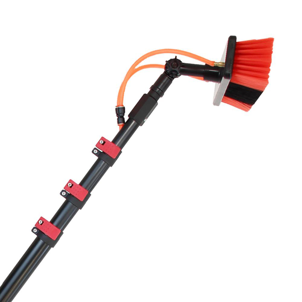 6m Water Pipe Extension Solar Panel Wash cleaning <strong>Brush</strong>