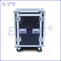 standard shockproof flight case with wheels