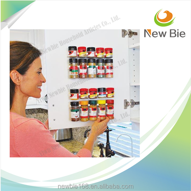 Clip N Store Spice Gripper Clip Strips for Plastic Jars